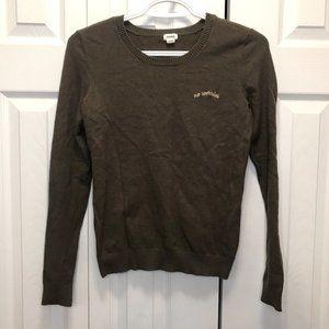 Garage Crew Neck Knit Sweater No Worries Grey